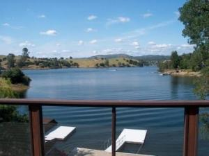 View from Lake Tulloch home in Northern California