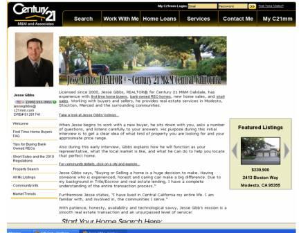 Jesse Gibbs, Century 21 M&M agent website