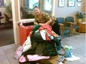 Angela Dunbar of Century 21 M&M in Stockton collected 87 coats