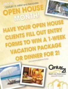 Century 21 M&M Open House Contest