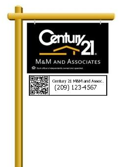 Century 21 M&M QR code sign